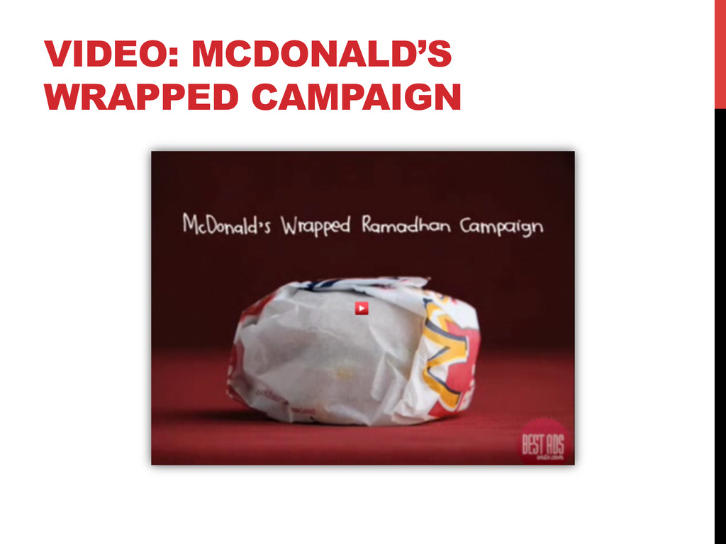 VIDEO: MCDONALD'S WRAPPED CAMPAIGN