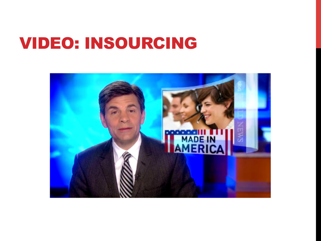 VIDEO: INSOURCING
