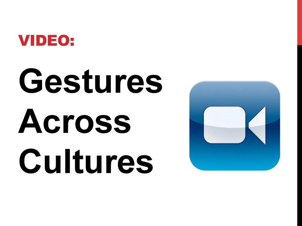VIDEO: Gestures Across Cultures