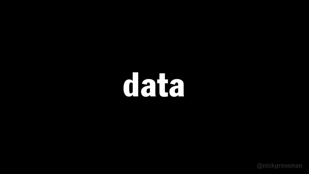 @nickgrossman data