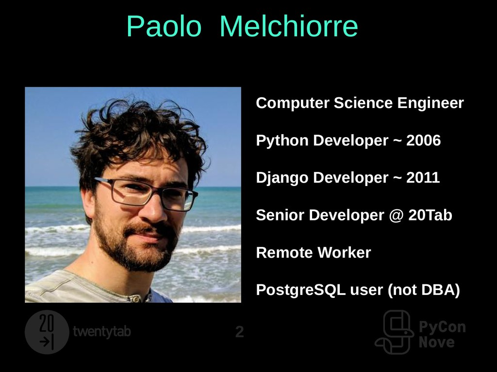 2 Paolo Melchiorre Computer Science Engineer Py...