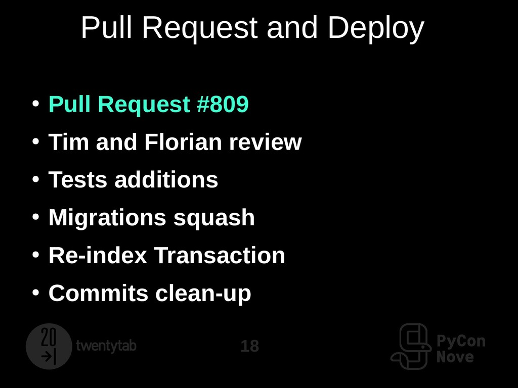 18 Pull Request and Deploy ● Pull Request #809 ...