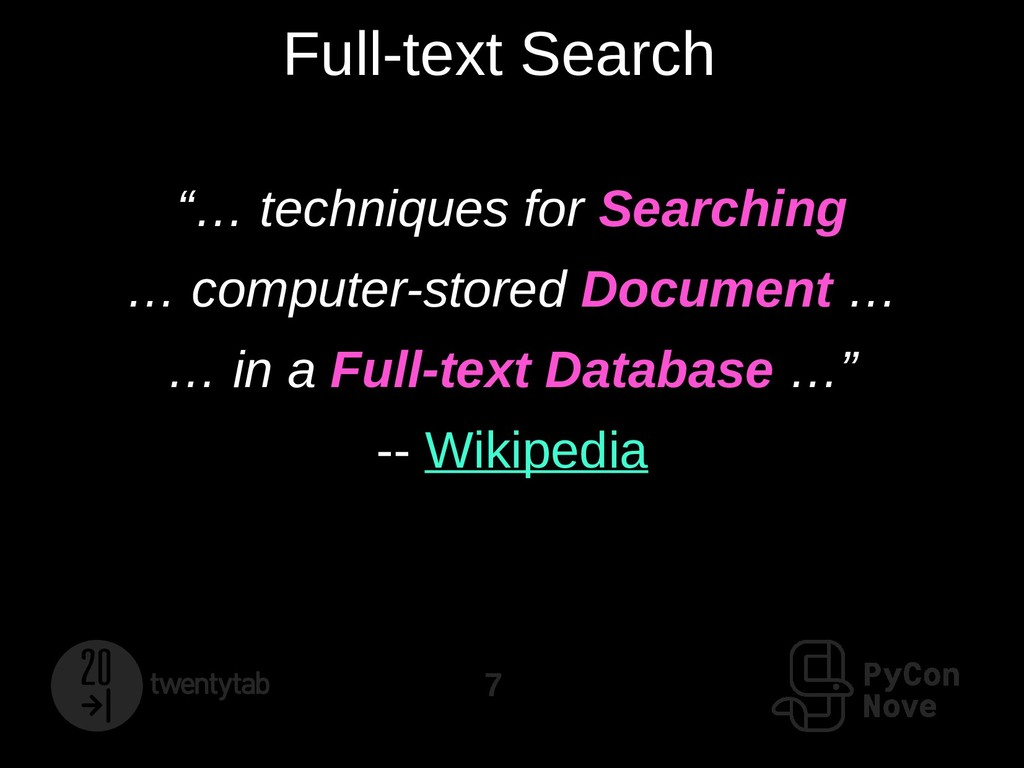 "7 Full-text Search ""… techniques for Searching ..."