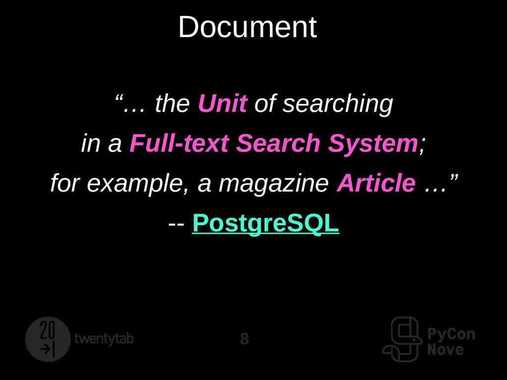 "8 Document ""… the Unit of searching in a Full-t..."