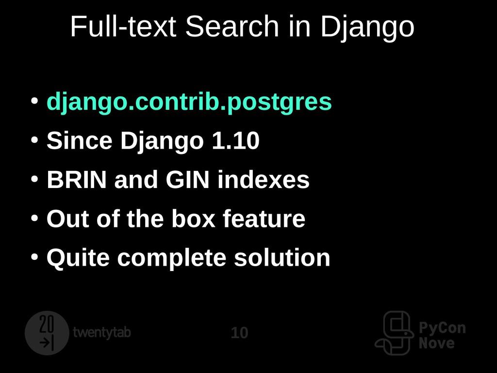10 Full-text Search in Django ● django.contrib....