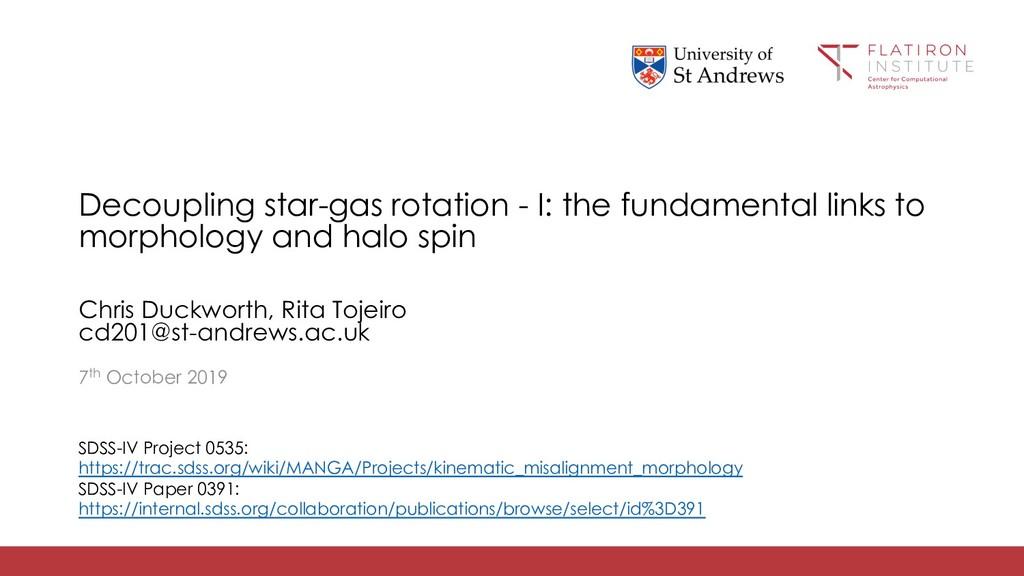 Decoupling star-gas rotation - I: the fundament...