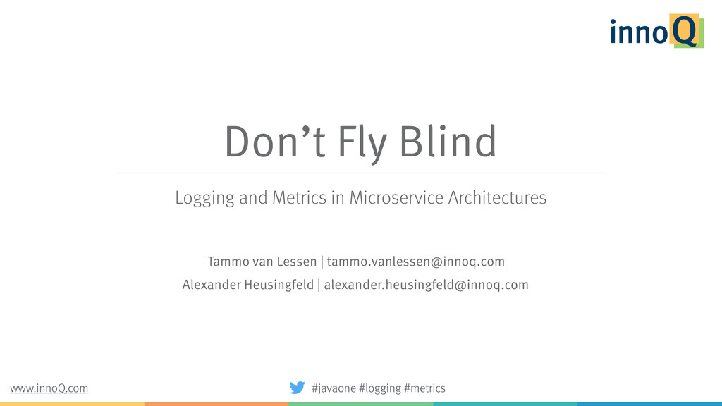 Don't Fly Blind Logging and Metrics in Microser...