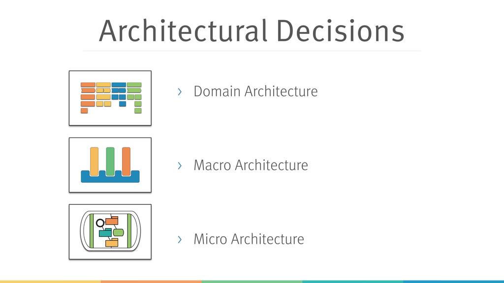 Architectural Decisions > Domain Architecture ...
