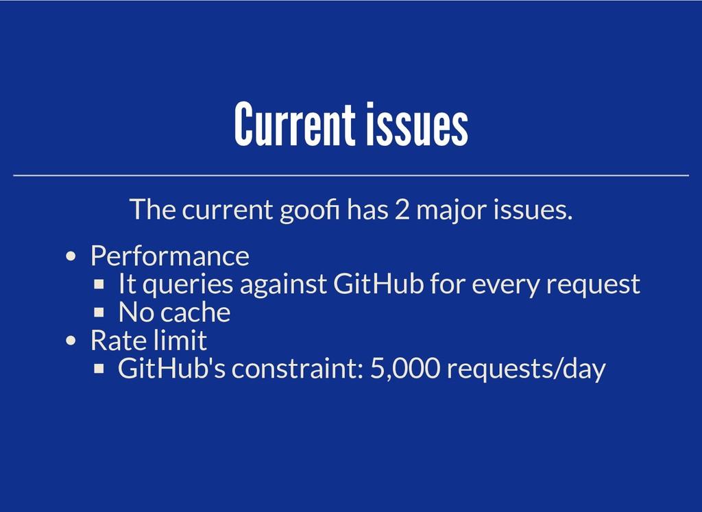 Current issues Current issues The current goo h...