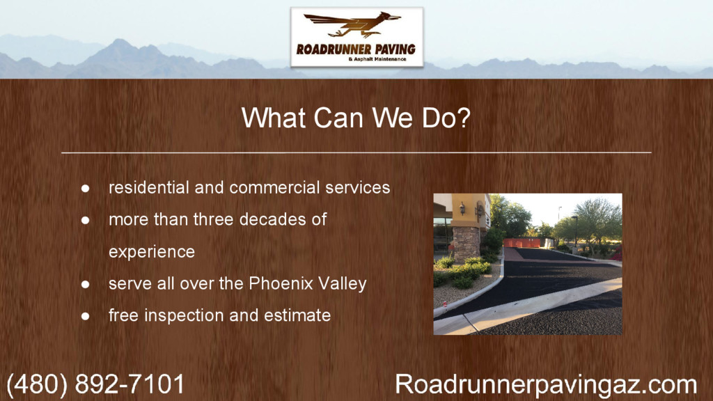 What Can We Do? ● residential and commercial se...