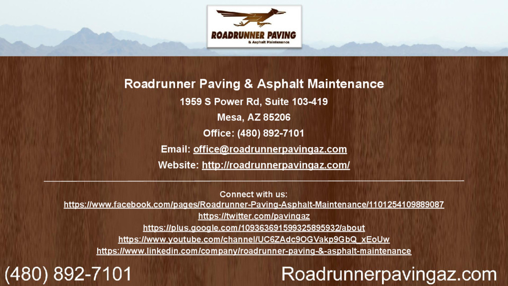 Roadrunner Paving & Asphalt Maintenance 1959 S ...