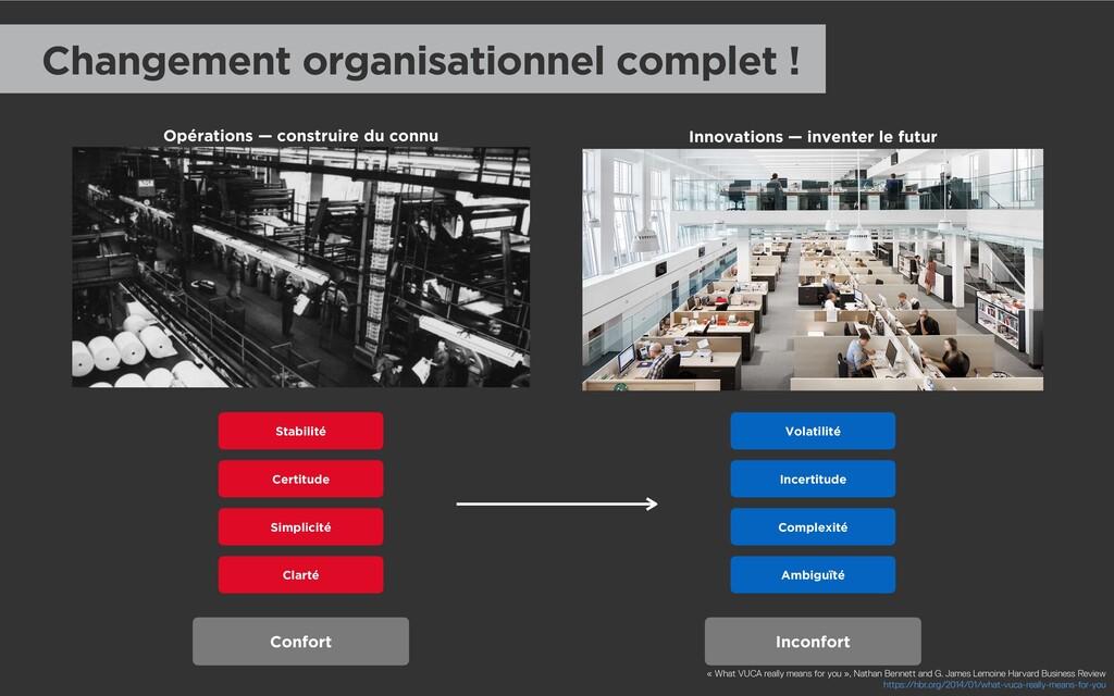 Changement organisationnel complet ! Stabilité ...