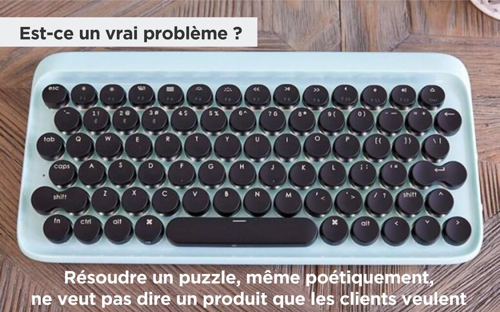 Est-ce un vrai problème ? Résoudre un puzzle, m...