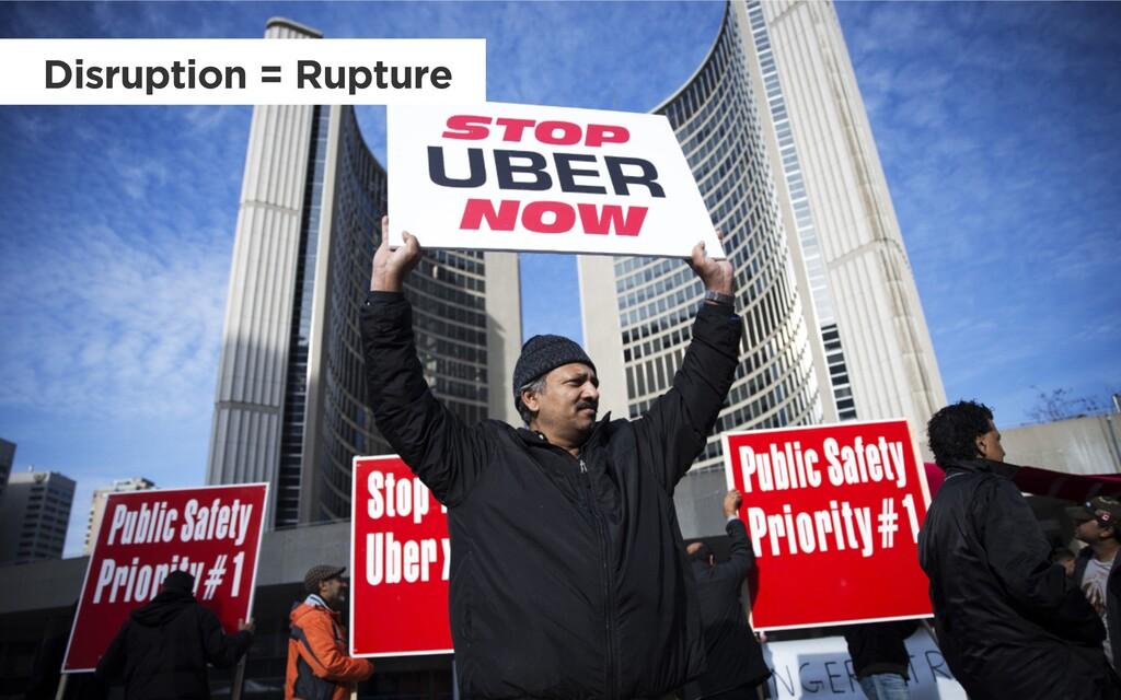 Disruption = Rupture