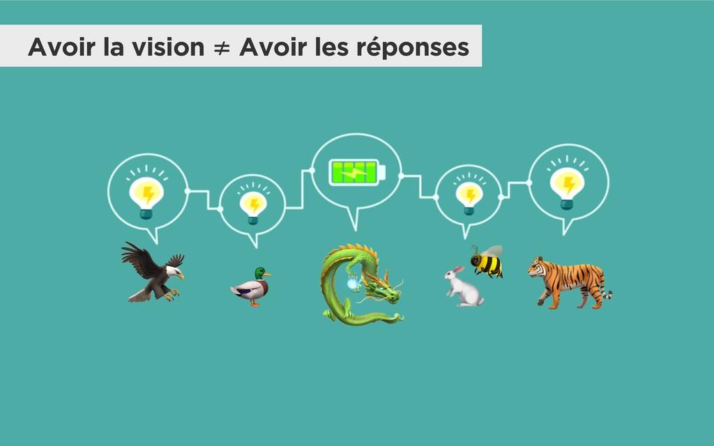 Avoir la vision ≠ Avoir les réponses