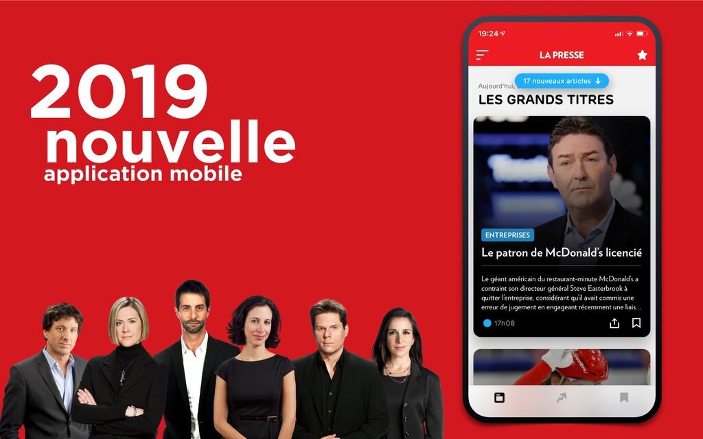 2019 nouvelle application mobile