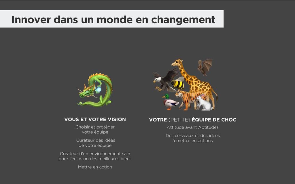 Innover dans un monde en changement        VOUS...