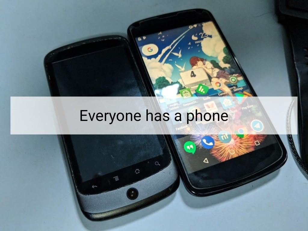 Everyone has a phone