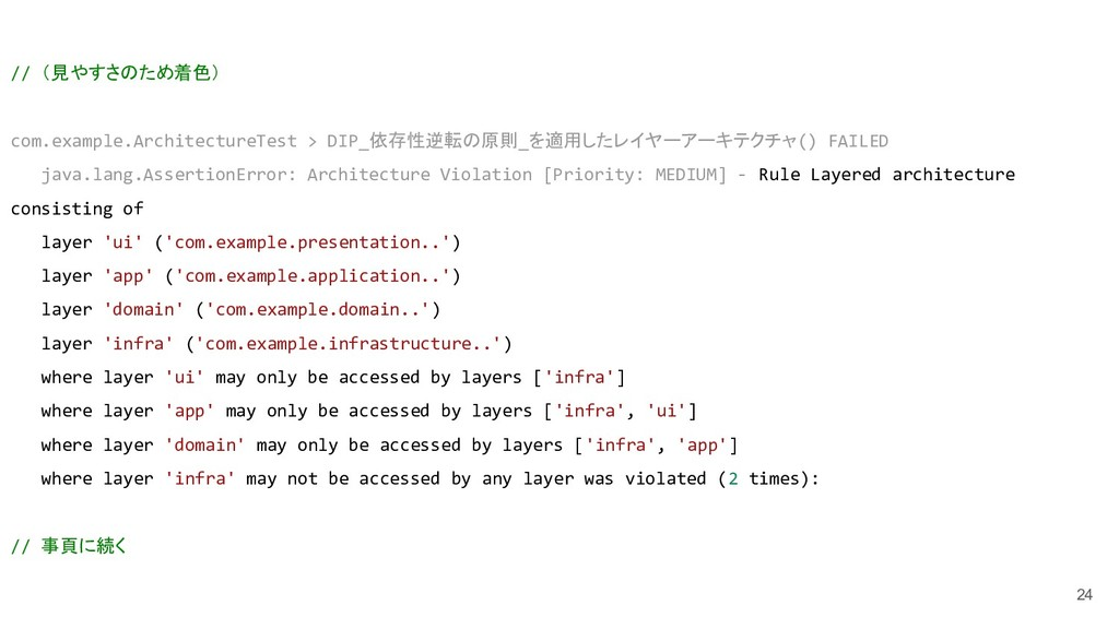 24 // (見やすさのため着色) com.example.ArchitectureTest ...
