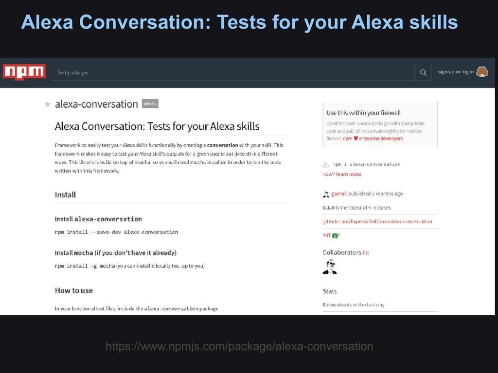 Alexa Conversation: Tests for your Alexa skills...