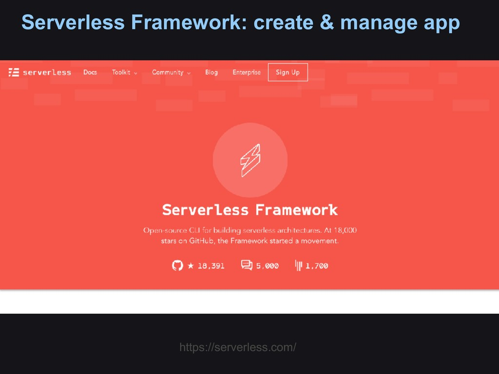 Serverless Framework: create & manage app https...