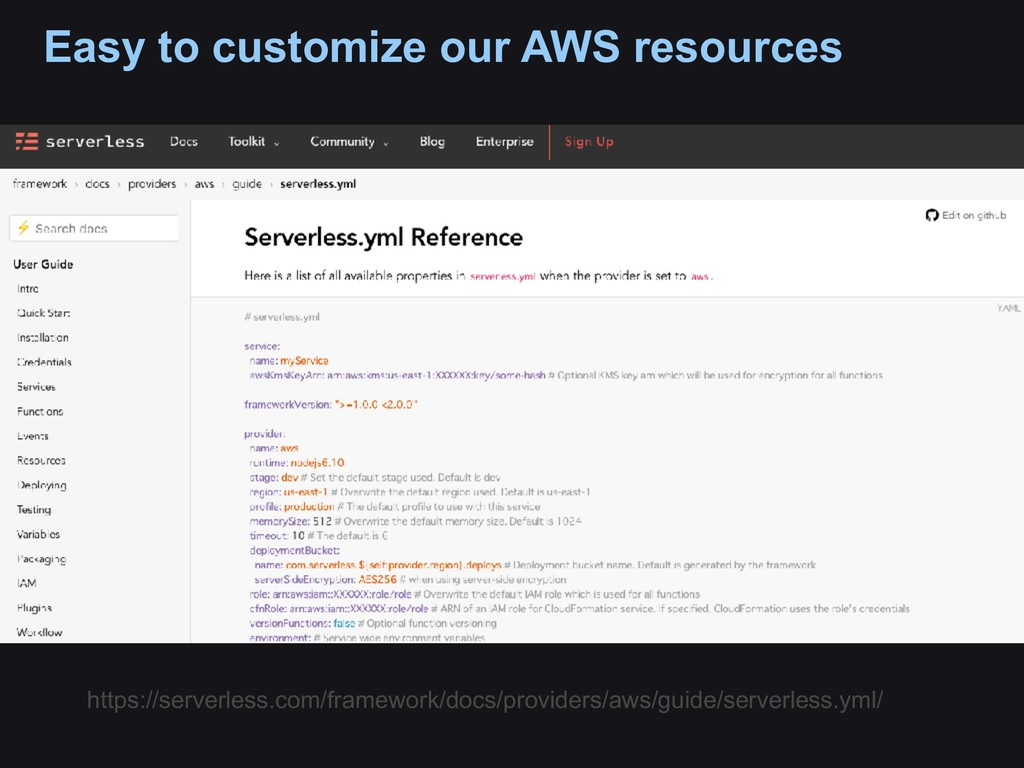 Easy to customize our AWS resources https://ser...