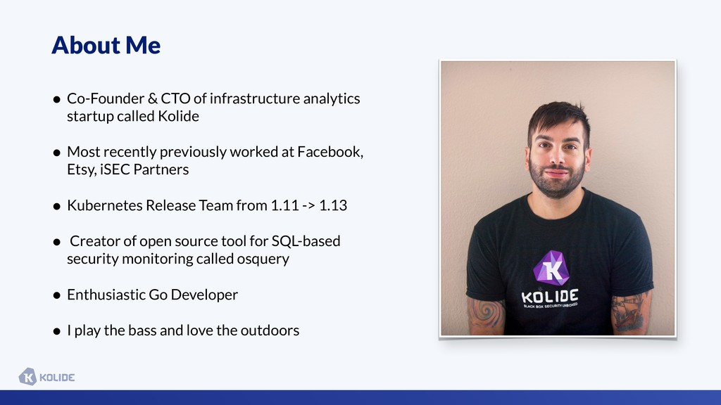 About Me • Co-Founder & CTO of infrastructure a...