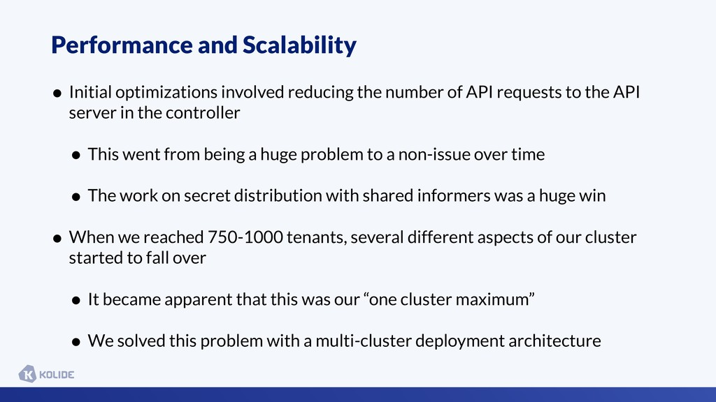 Performance and Scalability • Initial optimizat...