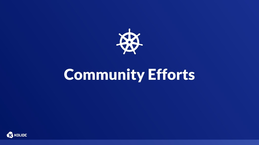 Community Efforts