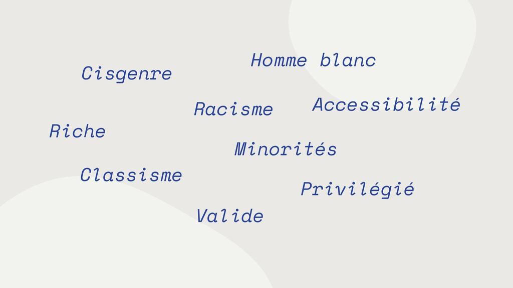 Cisgenre Valide Homme blanc Privilégié Riche Mi...