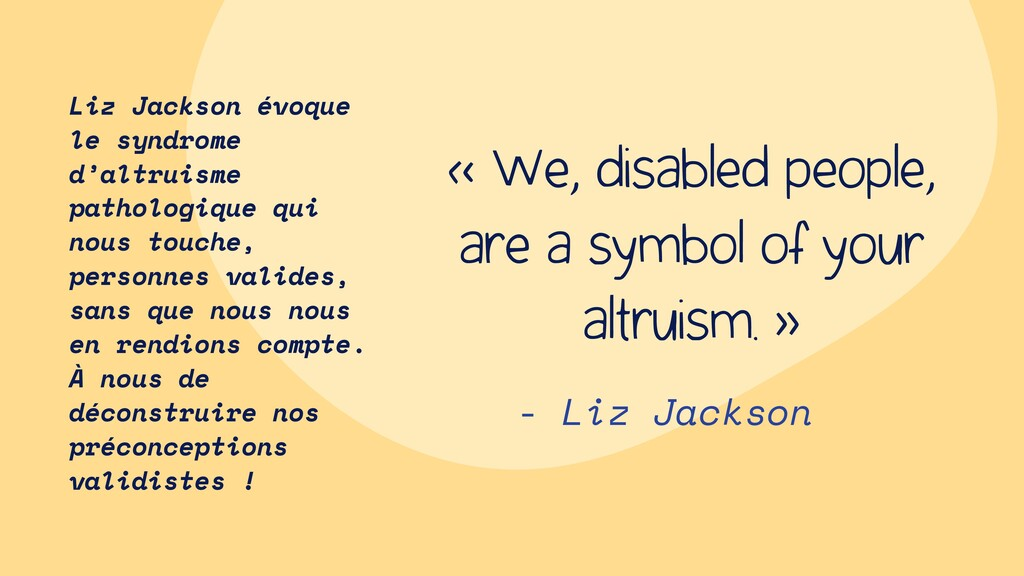 - Liz Jackson « We, disabled people, are a symb...