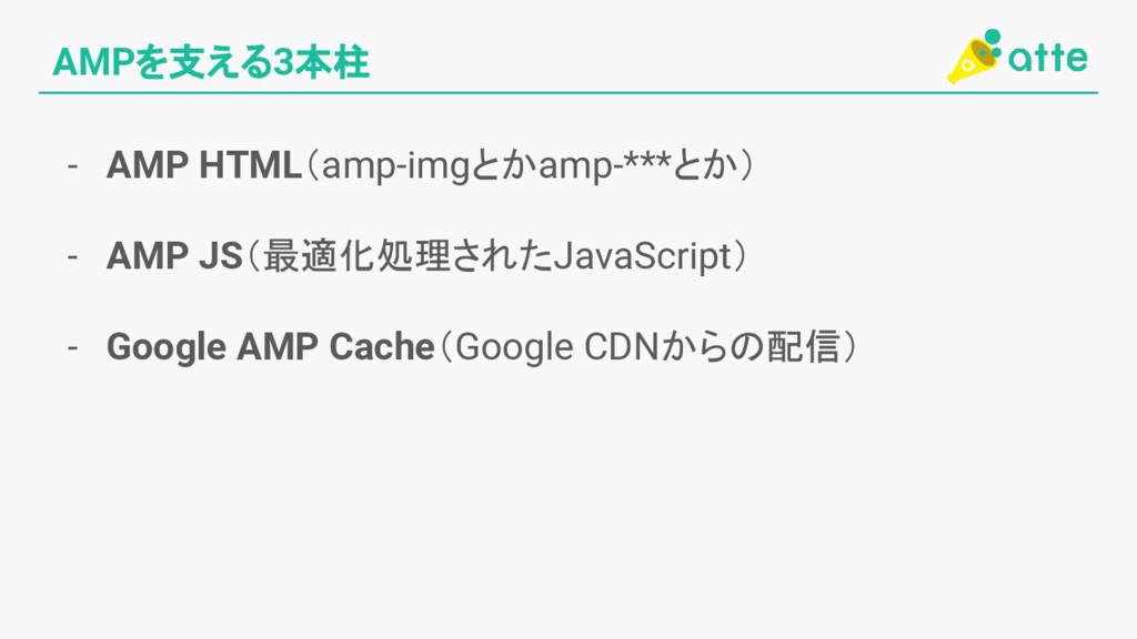 AMPを支える3本柱 - AMP HTML(amp-imgとかamp-***とか) - AMP...