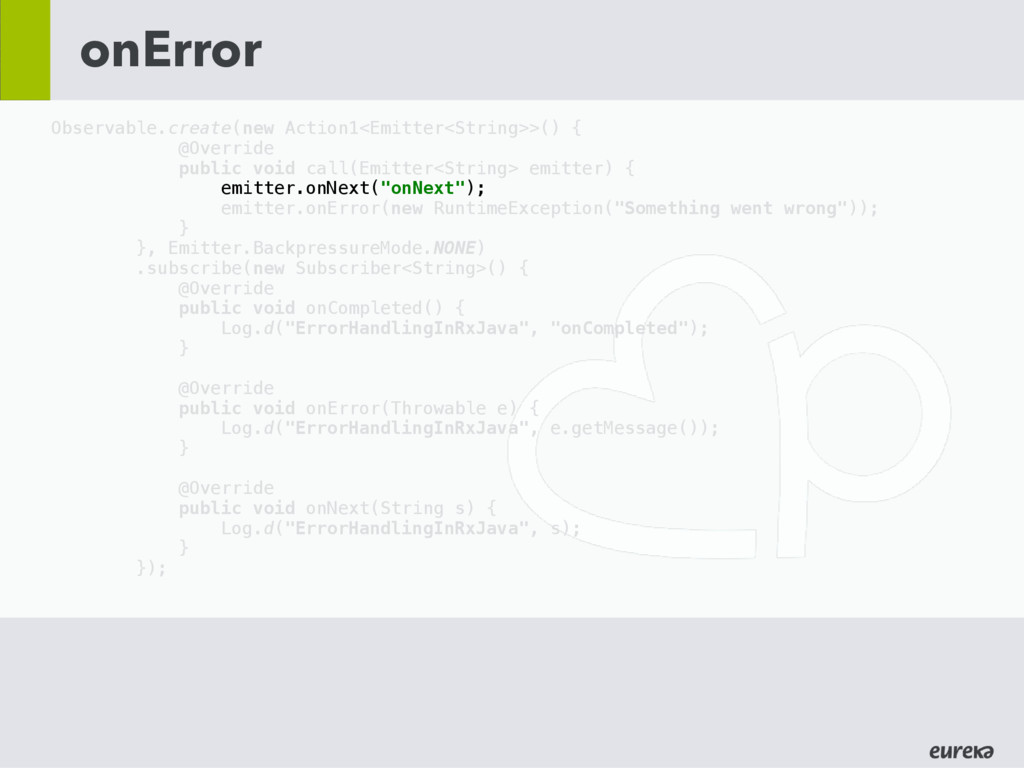 onError Observable.create(new Action1<Emitter<S...