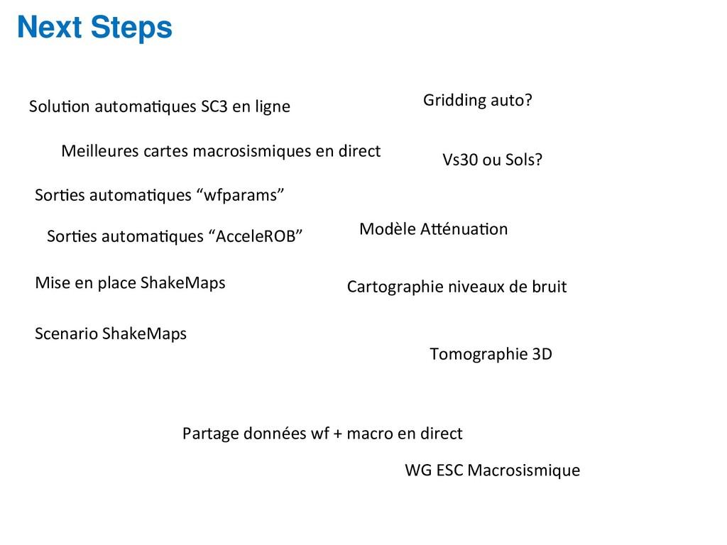 Next Steps SoluOon automaOques SC3 en ligne Mei...