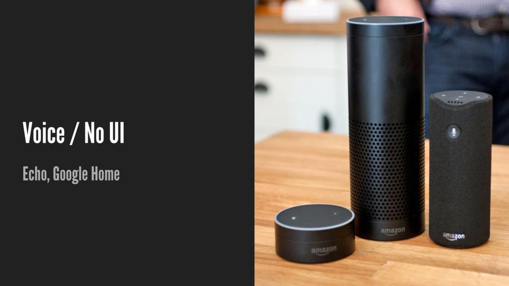 Voice / No UI Echo, Google Home
