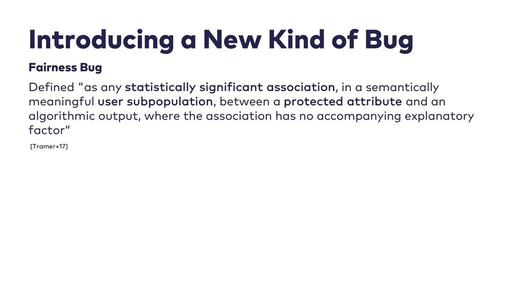 Introducing a New Kind of Bug Fairness Bug Defi...