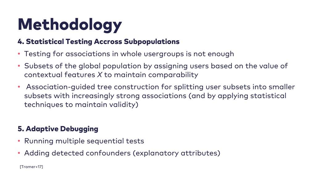 Methodology 4. Statistical Testing Accross Subp...