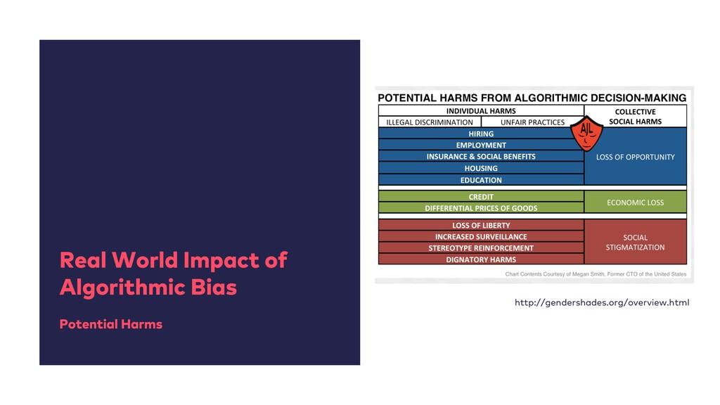 Real World Impact of Algorithmic Bias Potential...