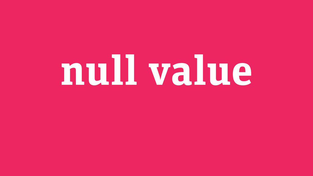 null value