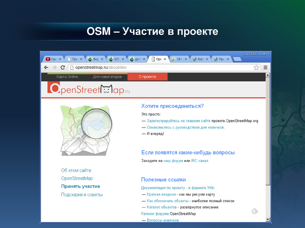 OSM – Участие в проекте