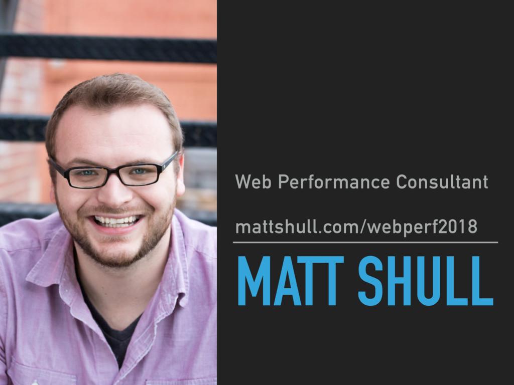MATT SHULL Web Performance Consultant mattshul...