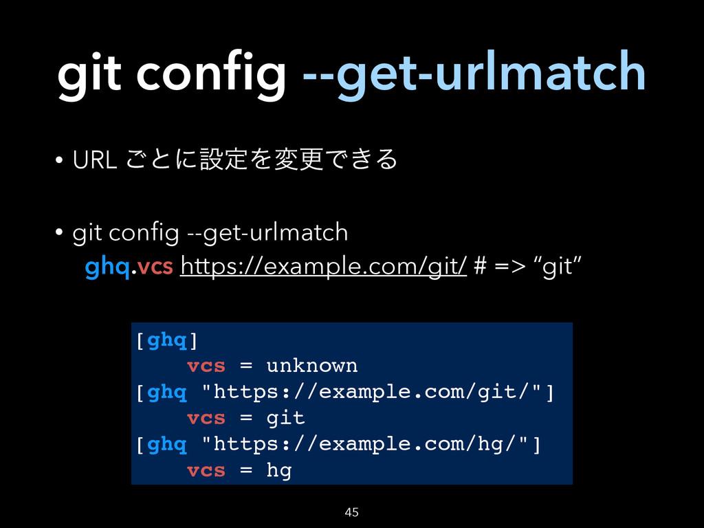 git config --get-urlmatch • URL ͝ͱʹઃఆΛมߋͰ͖Δ • gi...