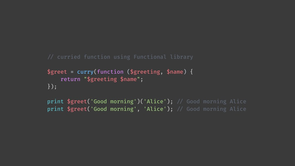 !// curried function using Functional library $...