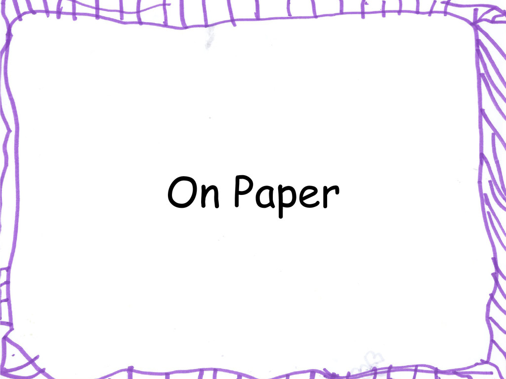 On Paper