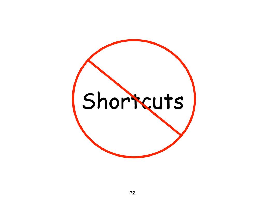 32 Shortcuts