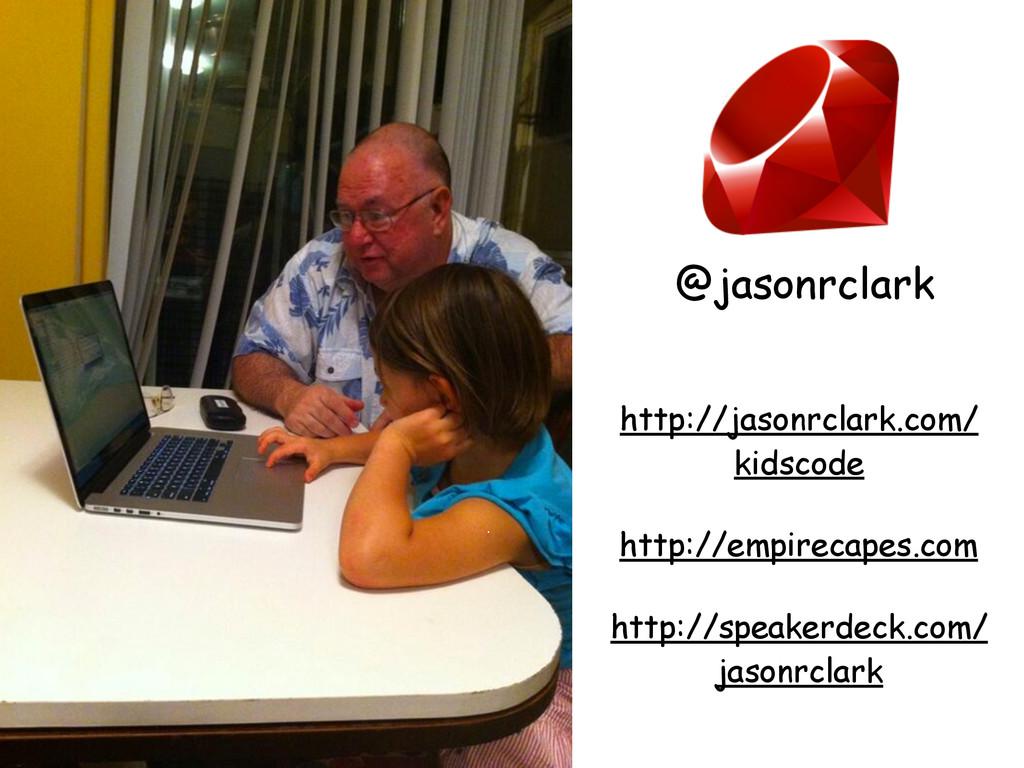 61 http://jasonrclark.com/ kidscode http://spea...