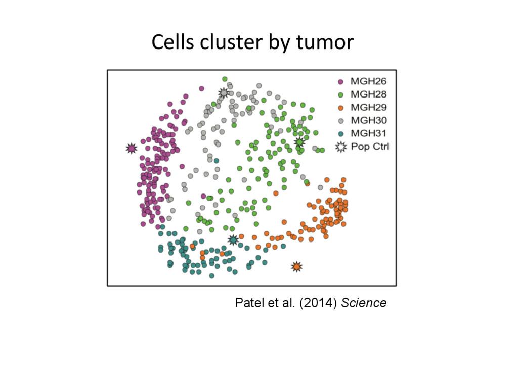 Patel et al. (2014) Science Cells cluster by tu...