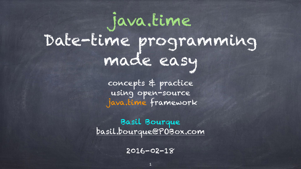 java.time Date-time programming made easy conce...