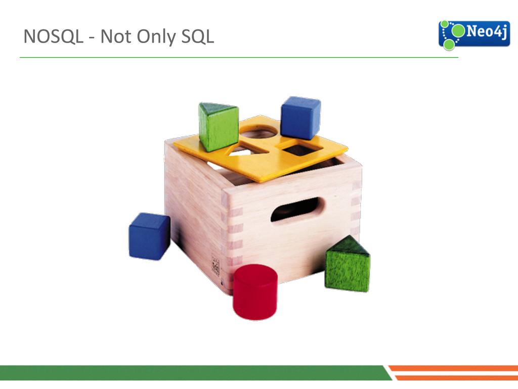 NOSQL -‐ Not Only SQL