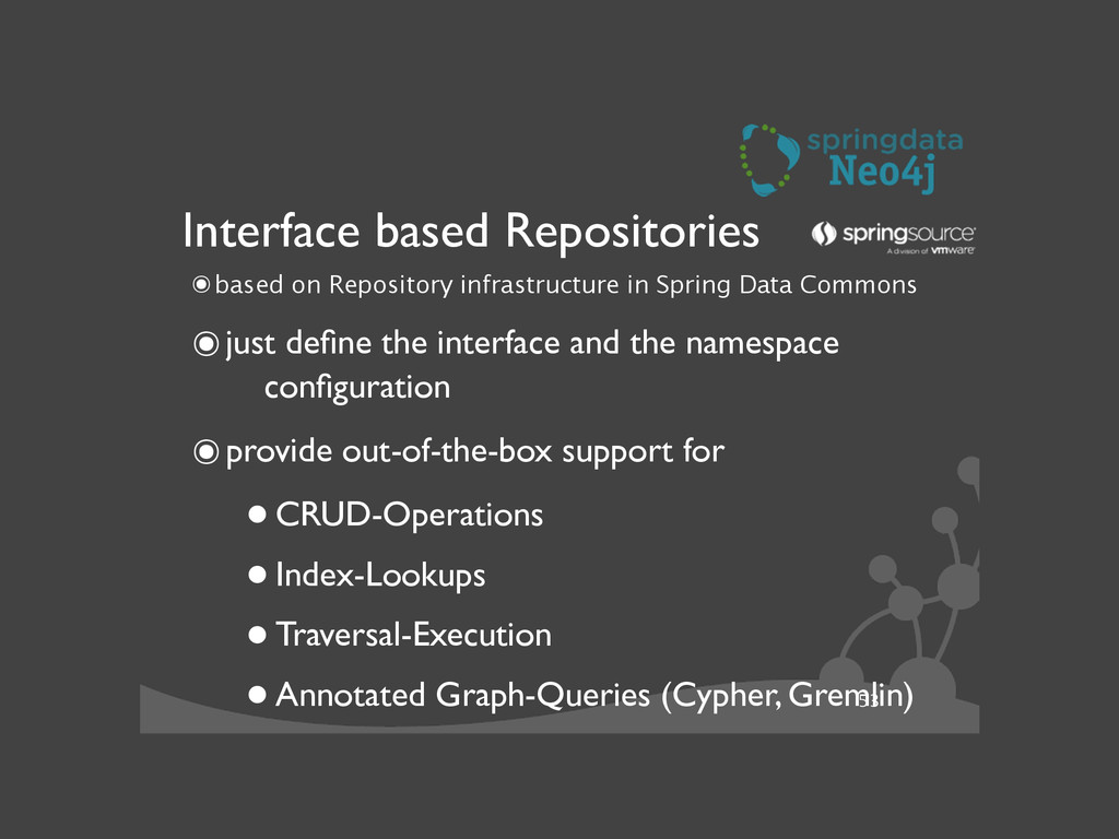 53 Interface based Repositories ๏based on Repos...